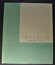 1931 Franklin Series 15 Catalog Sales Brochure Original 31