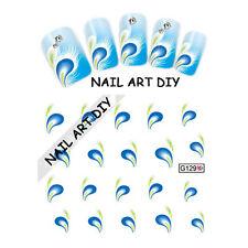 20 stickers-decals water transfer-Adesivi per Ricostruzione unghie con PIUMA !!