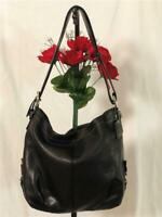 COACH Convertible Crossbody Black Soft Pebbled Leather Shoulder Bag #F15064