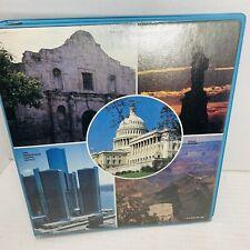 Vintage Norcom Scenic Landmarks Of Usa 3 Ring Binder Hard Cover Vinyl 70s Nice