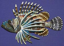 "Lion Fish Wall Plaque 6""X4""~ New Tropical Nautical Beach Sea life Decor"