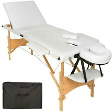 Table de Massage Pliante 3 Zones Portable - Blanche