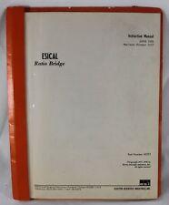 ESI ESISCAL Ratio Bridge Instruction Manual June 1978 Part No. 43273