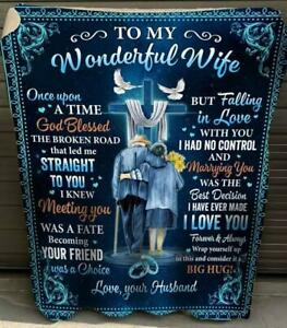 Husband To Wonderful Wife Marrying You Was The Best Decision Sherpa Blanket