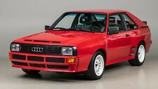 AUDI SPORT QUATTRO RED RALLY CAR POSTER PICTURE WALL ART PRINT A3 AMK2308