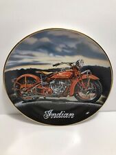 Royal Doulton The 1929 Indian Scout Motorcycle Collector's Plate Franklin Mint