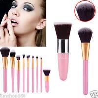 New 9PCS Make up Brushes Kit Professional Cosmetic Makeup Brush Set Pink Tools