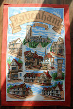 Suffolk, England UK Souvenir 100% Cotton Kitchen Tea Towel