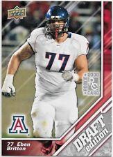 Eben Britton Arizona Wildcats OT 2009 Upper Deck Draft Edition ROOKIE Card # 97