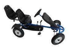 TecTake 2 Sitzer Gokart Tretauto Go Kart Tretfahrzeug Blau