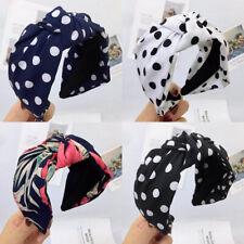 Women's Knot Headband Hairband Dot Head Band Wide Hair Hoop Bands Accessories