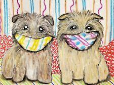 Glen of Imaal Terrier Original Pastel Painting 9x12 Artist Ksams Quarantine Dogs