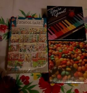 3 Springbok Mini Puzzles, M & M's, You're Grand, School Daze, NIB