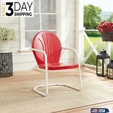 Outdoor Chair Patio Lounge Garden Bench Furniture Seat Accent Rocking Yard Steel