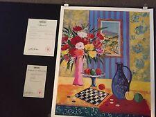JEAN-CLAUDE PICOT LE VASE BLEU DE MADRID SERIOLITHOGRAPH PAPER SIGNED PLATE COA