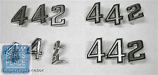 1969-70 Oldsmobile Cutlass / 442 Emblem Kit - Nose / Fender / Trunk