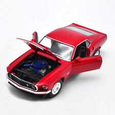 1969 Ford Mustang Boss 429 1:24 Model Car Diecast Vehicle Collectable Gift Red