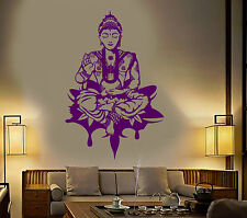 Vinyl Wall Decal Buddha Meditation Yoga Center Stickers Mural (ig3845)