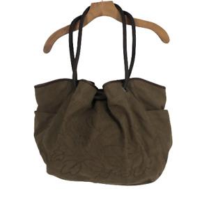 J.Jill Womens Hand Bag Suede Olive Green Boho Purse