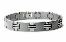 """Titanium Bold Cross Link Contemporary Design Mens Bracelet 8.5"""""""