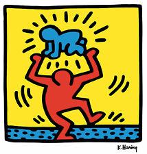 Keith Haring BABY OVERHEAD 12x12  Pop Art Giclee Print **SALE