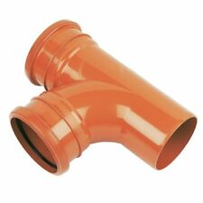 110mm Underground Drainage 87.5 Branch DOUBLE  Socket Tee