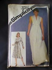 VTG 1980 Simplicity Sewing Pattern 9750 Plus Size 16 Miss Dress Princess Seamed