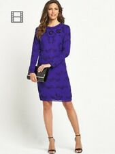 BNWT SAVOIR BLUE LONG SLEEVE BEADED SHIFT  DRESS  SIZE 18 RRP £79