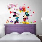 Pop Mickey Minnie Mouse Wall Sticker Kids Nursery Decor Vinyl Decal Home Mural
