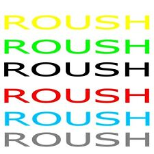 Ford Roush Mustang sticker decal banner free shipping and tracking info