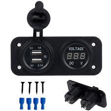 Voiture Allume Cigare LED Double Chargeur Prise USB 12V3.1A Adaptateur voltmètre