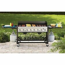 Portable Bakers & Chefs Outdoor Commercial/ Event 8-Burner Propane Gas BBQ Grill