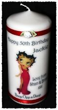 50th  Betty Boop Birthday candle personalised gift  40 #6