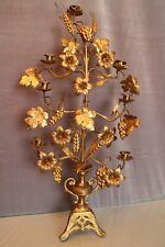 Très grand chandelier d'autel Eglise en bronze doré XIXe style Néo-Gothique