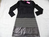 SAVE THE QUEEN cooles Kleid schwarz schwarz beige gemustert Gr. XL NEU