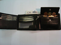 Top Quality Soft Leather Wallet With Many Features Black RFID Protected