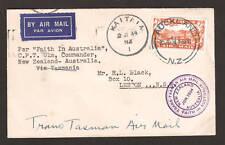 New Zealand Sc C3 on 1934 Trans-Tasman Air Mail cover