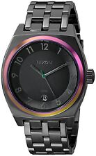 Nixon Men's A3251698 Monopoly 40mm Black Dial Gunmetal Watch A325-1698
