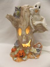 Haunted Porcelain Tree Ghost, Skeleton,etc  Electric Light Up Cord & Bulb Inc