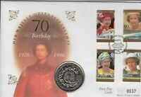 1996 Queen 70th Birthday First day cover FDC $1