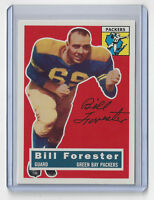 PACKERS Bill Forester signed card #79 1956 Topps Archives AUTOGRAPHED Green Bay