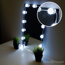 Crystal Vision Hollywood Style Makeup Mirror LED Light Kit Cool White 12bulb 8ft