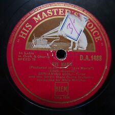 78 rpm BENIAMINO GIGLI Ave Maria/AGNUS DEI DA1488