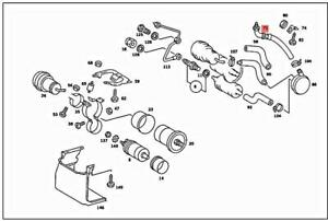 Genuine MERCEDES C126 W126 S-CLASS W126 Coupe C126 Fuel hose 1264701675