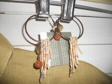 NWT Nature Bijoux Paris ~ Art to Wear ~ w/Planet Grossman ~ Earrings Ethnic Boho