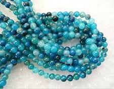 Ukcheapest-Blu dragonvein Agata Round Gemstone Beads 8 mm