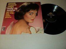 "CONNIE FRANCIS 33 TOURS LP 12"" USA CONNIE FRANCIS SINGS ""NEVER ON SUNDAY"""