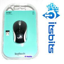 LOGITECH M187 BLACK WIRELESS MINI MOUSE NANO USB RECEIVER SUIT WIN 8 WIN 7 MAC