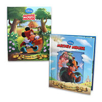 Disney Hardcover Mickey n the Beanstalk + Little Red Riding Minnie Story Books