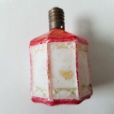 Figural Red and White Japanese Lantern Christmas Light Bulb Vintage Japan